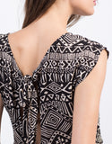 Detail of Tribal Print Pom Romper