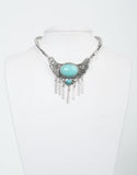 Front View of Tribal Antique Stone Collar Necklace