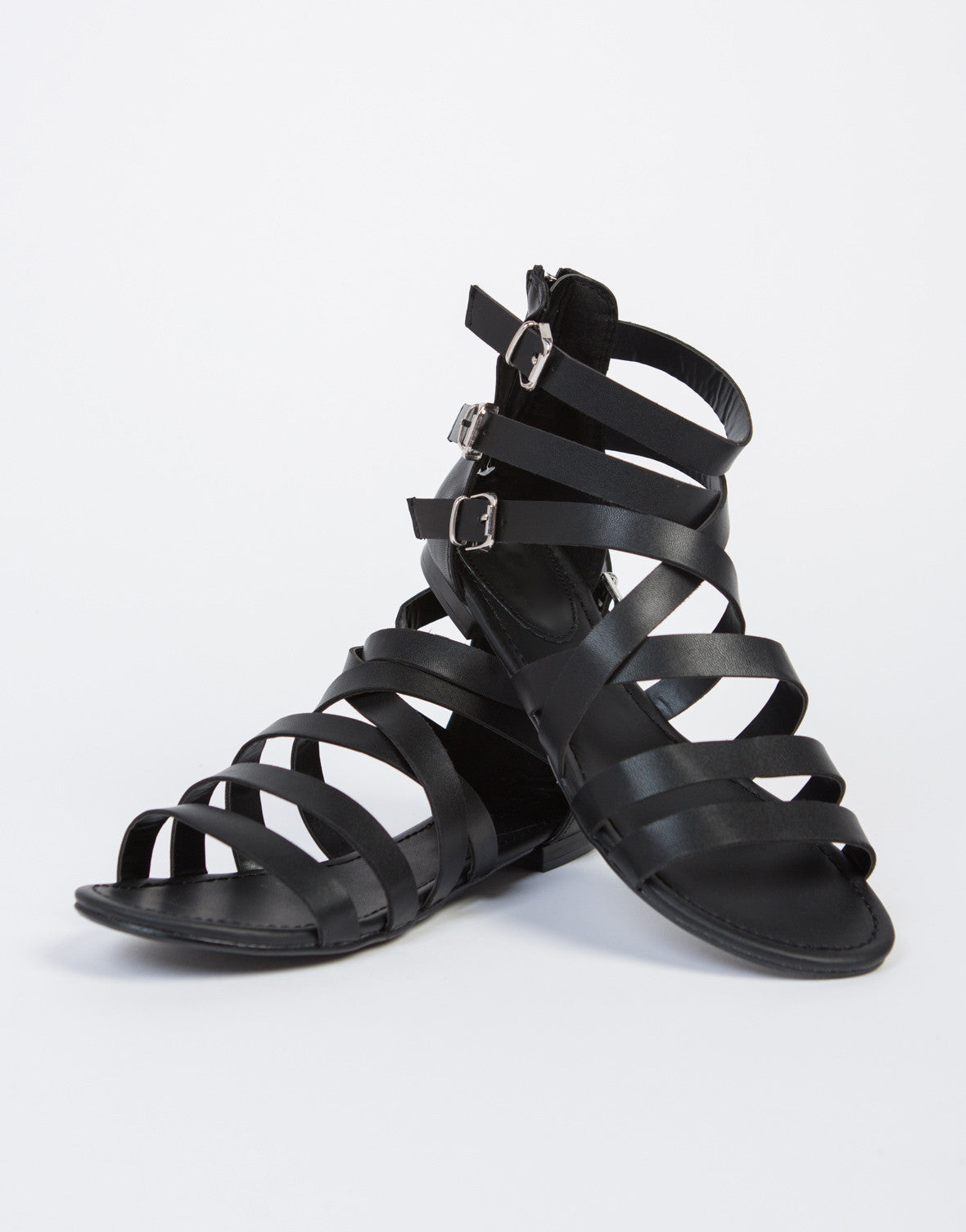 Triple Buckled Sandals