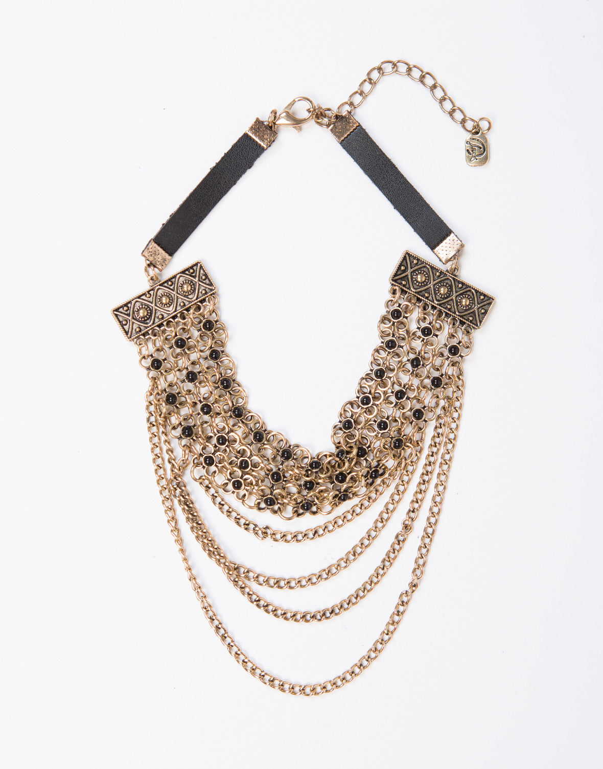 Triple Chained Floral Necklace