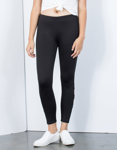 Triple Cut Out Leggings - 2020AVE