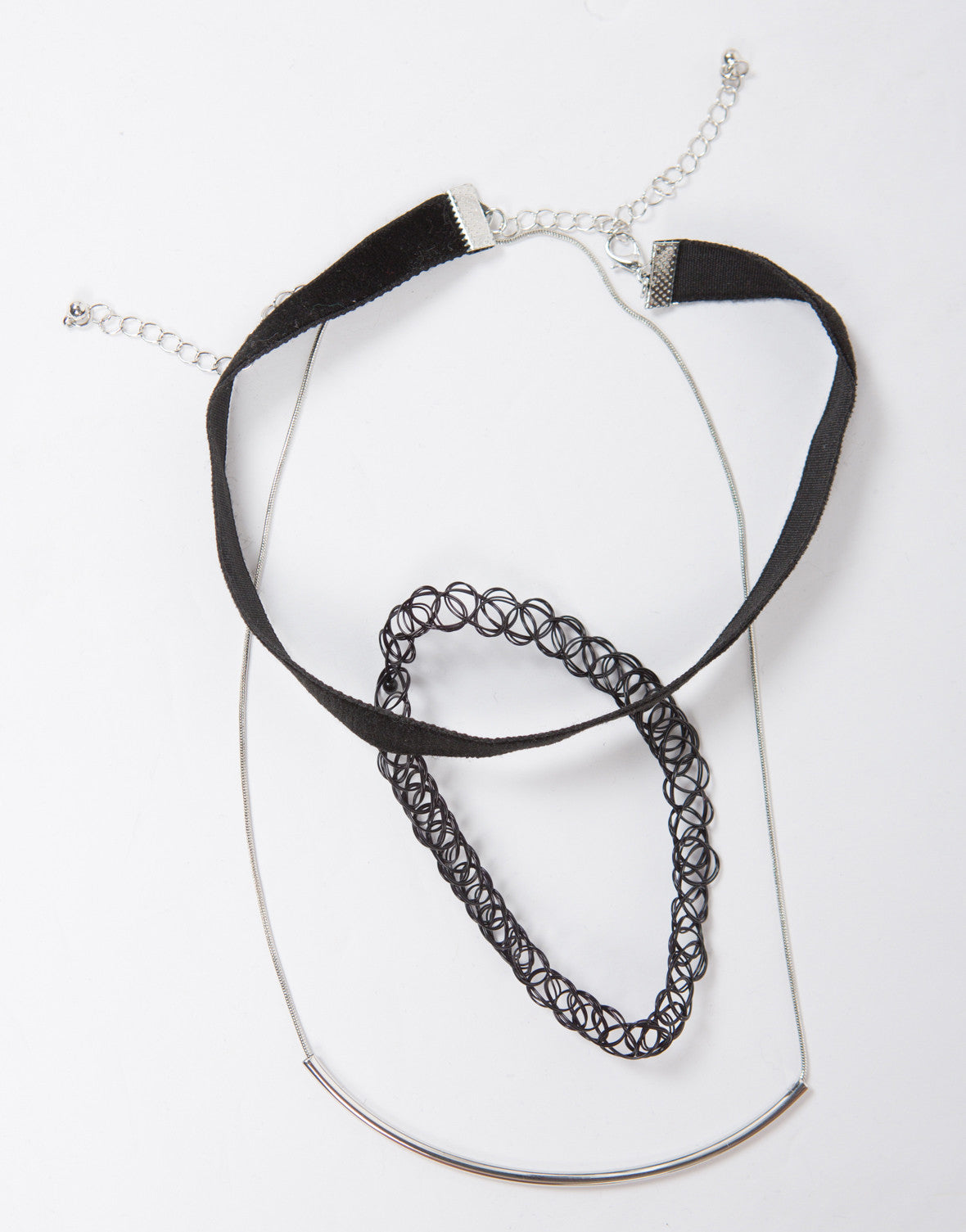 Triple 90s Layered Necklace Set