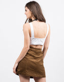 Back View of Triple Banded Crop Top