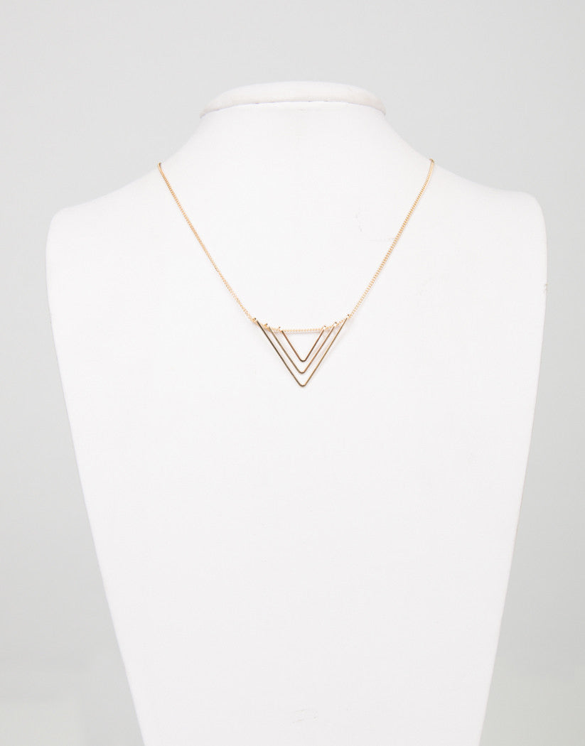Triple Down Necklace