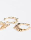 Triple Faux Septum Ring Set