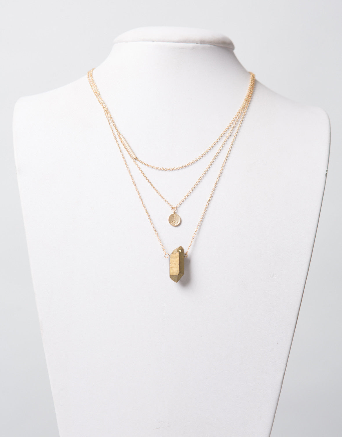 Triple Golden Layer Necklace