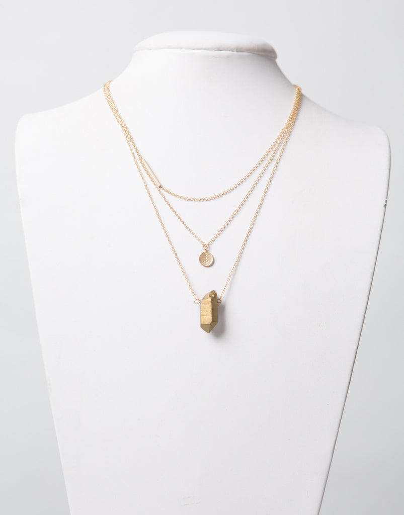Triple Golden Layer Necklace - 2020AVE