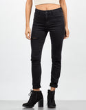 Front View of Triple Slit Skinny Jeans