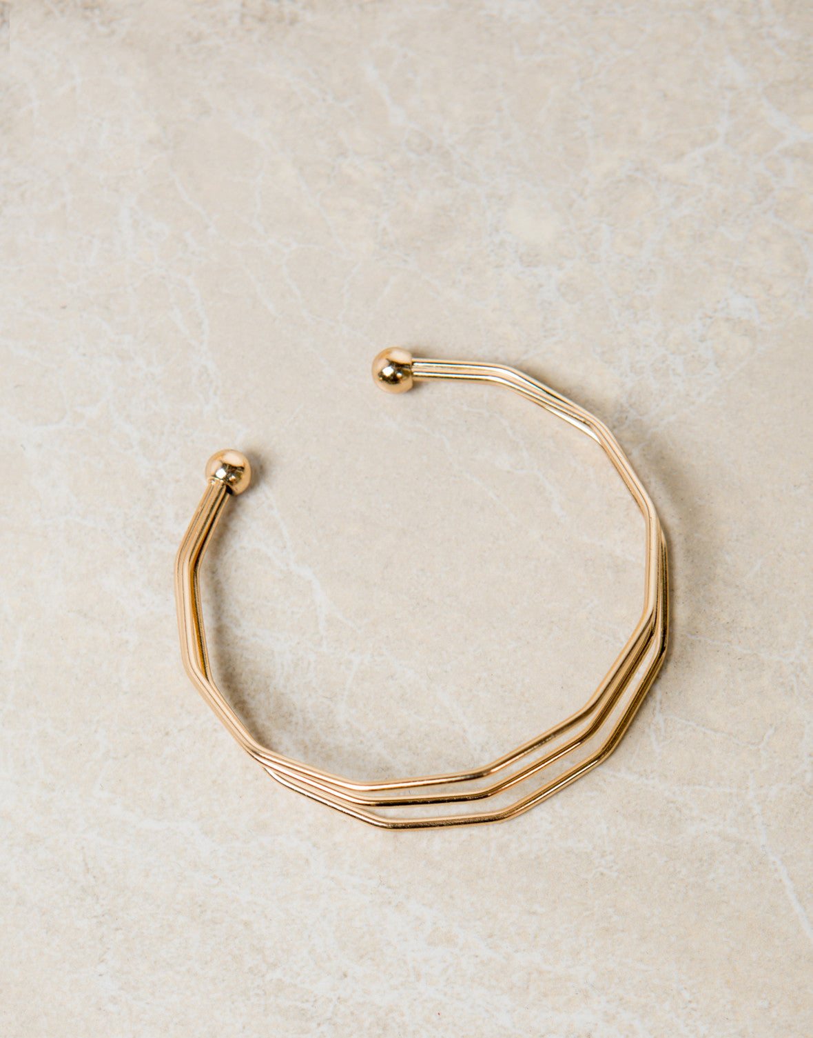 Triple Wired Bracelet Cuff