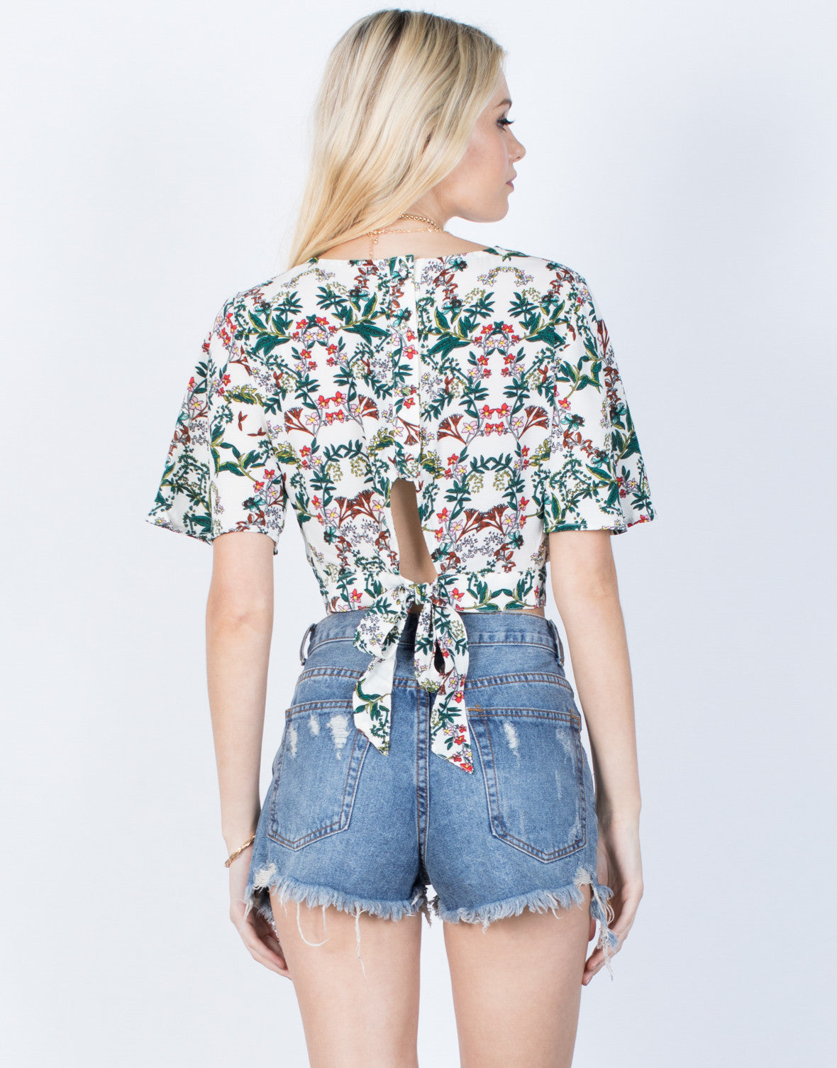 Back View of Tropical Crossover Top