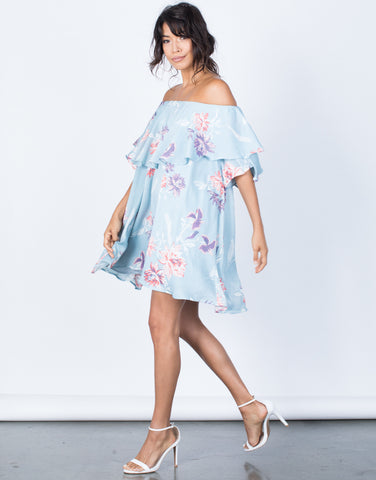 Side View of Tropical Getaway Dress