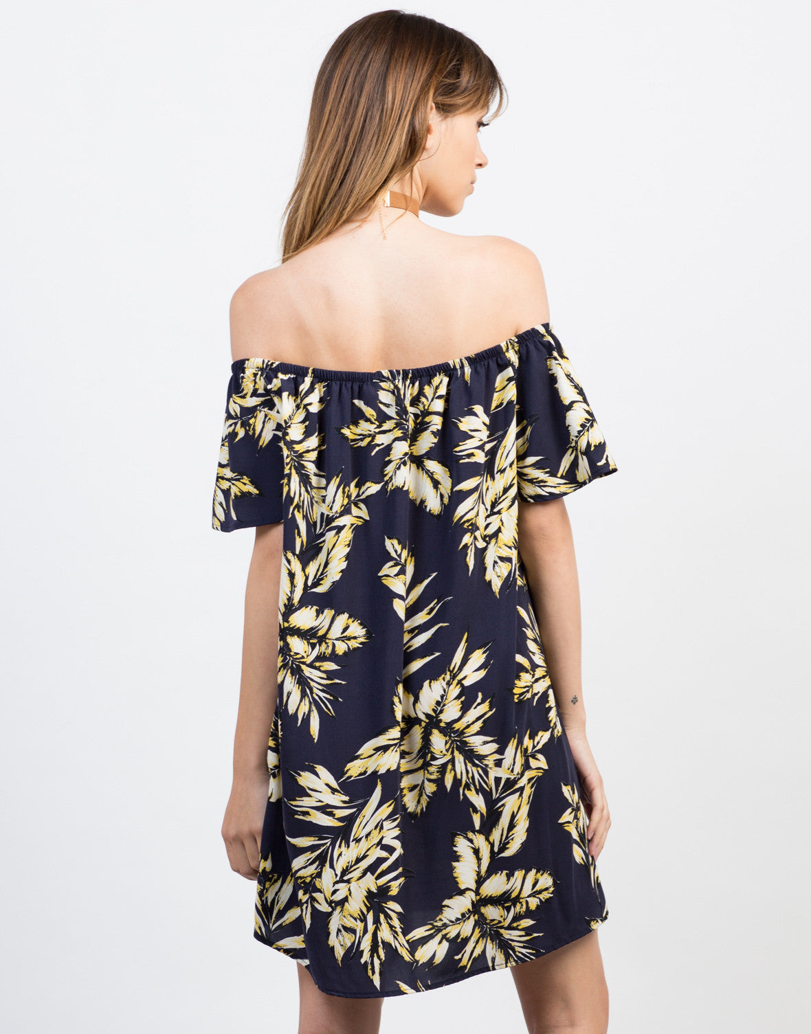Back View of Tropical Vacay Dress
