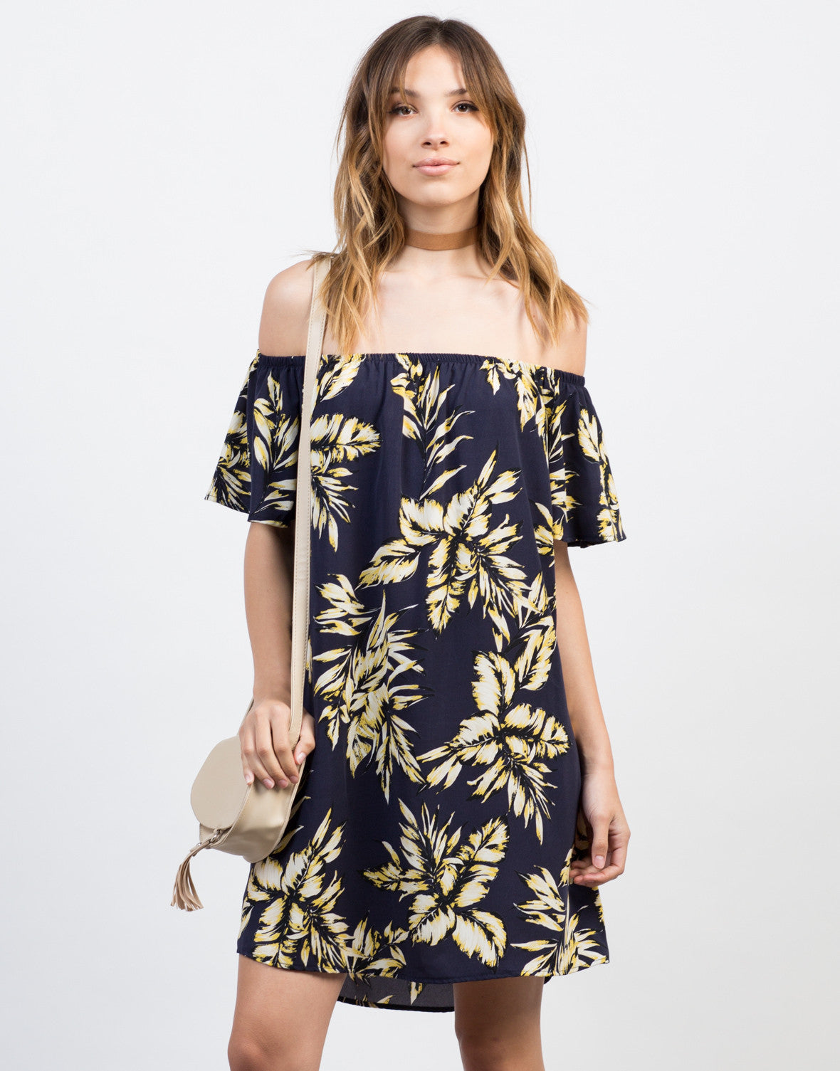 Front View of Tropical Vacay Dress