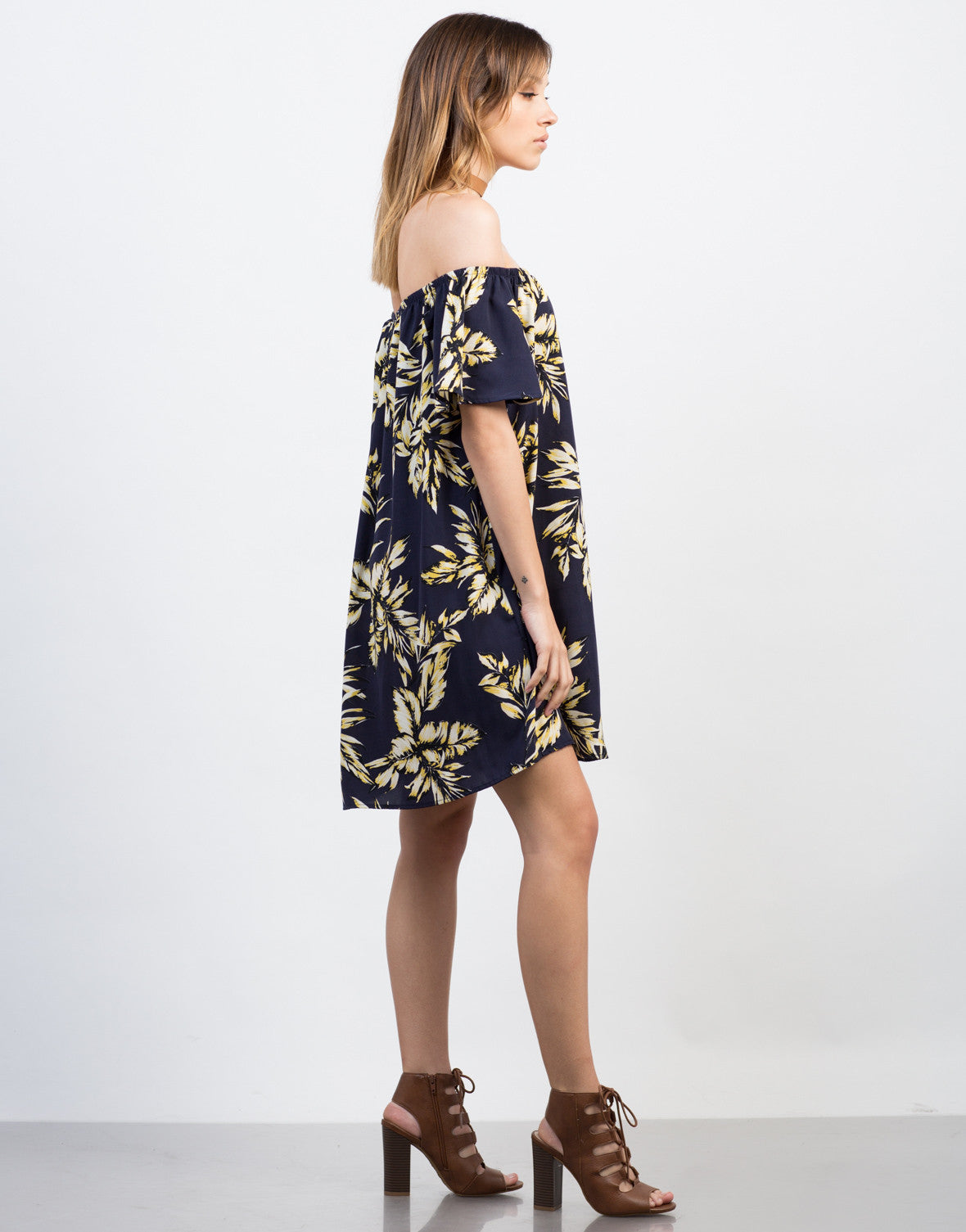 Side View of Tropical Vacay Dress