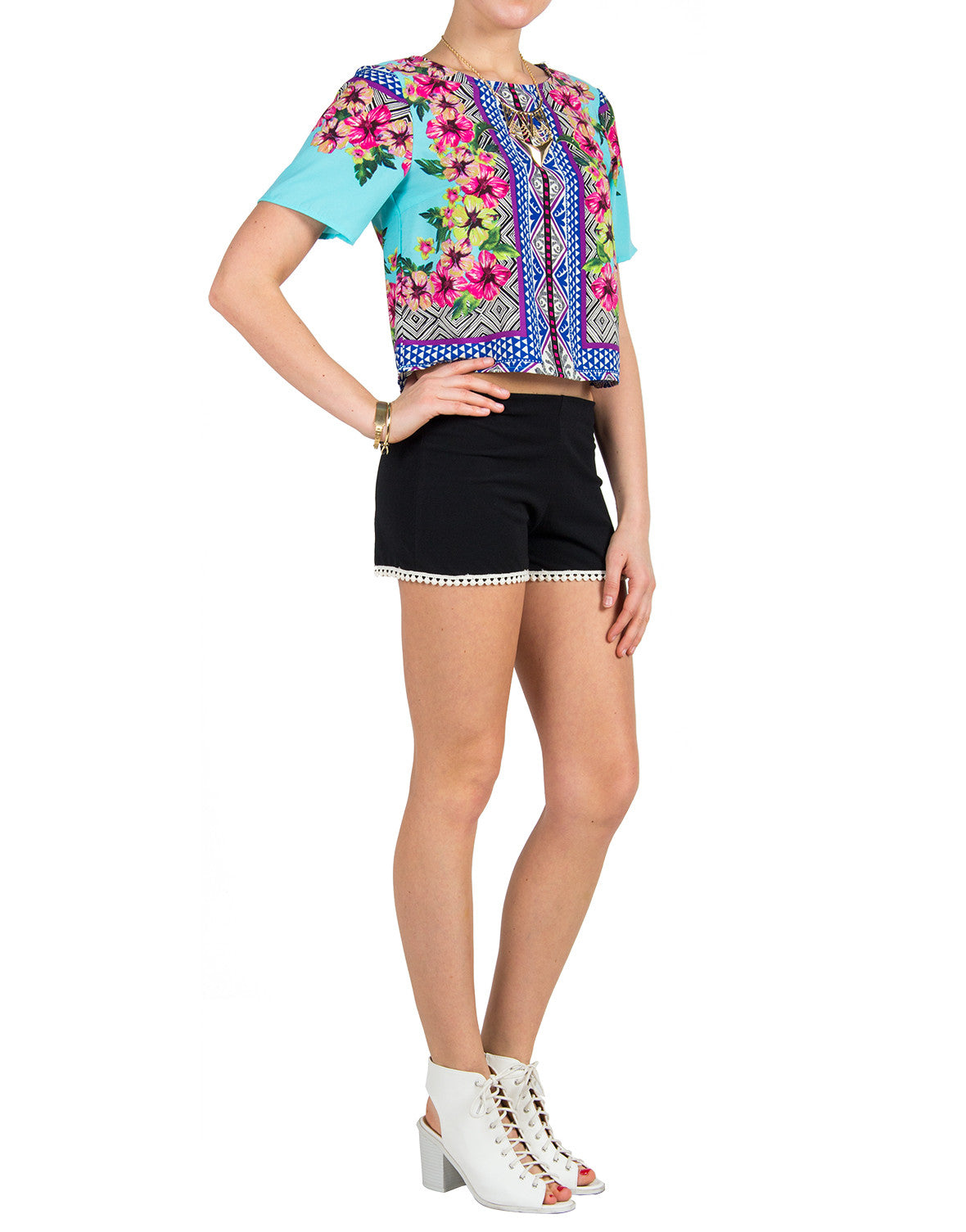 Tropical Boxy Tee
