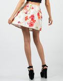 Back View of Tropical Skater Skirt