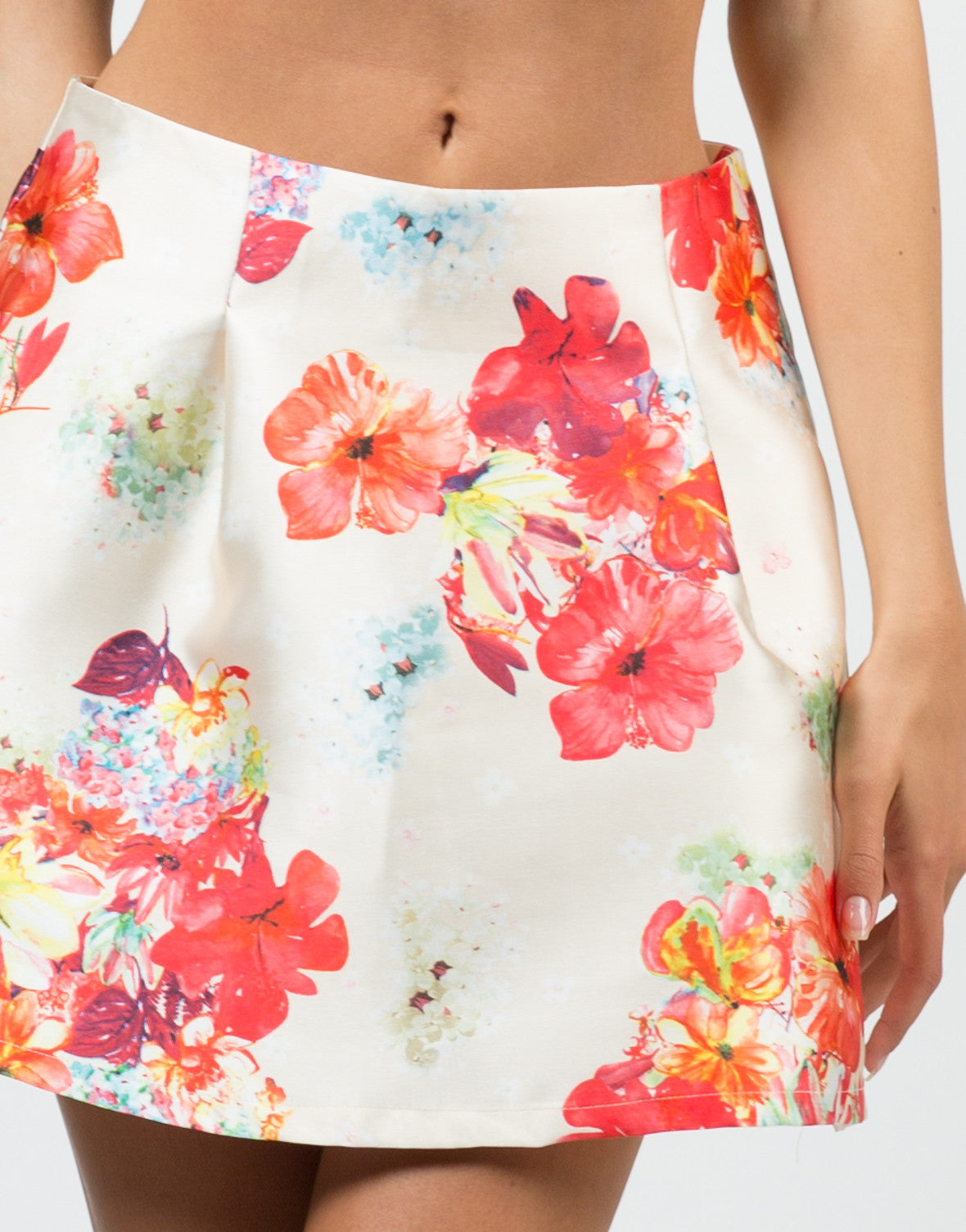 Detail of Tropical Skater Skirt