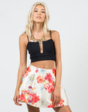 Front View of Tropical Skater Skirt