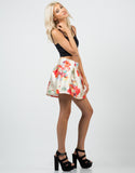 Side View of Tropical Skater Skirt