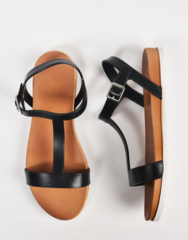 Top View of T-Strap Jelly Sandals