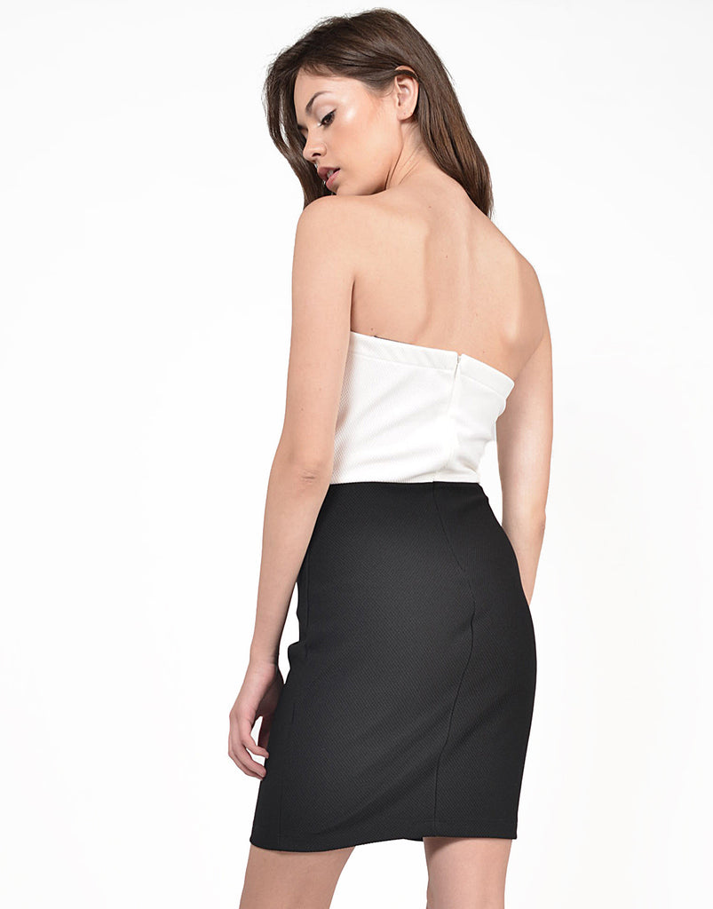 Back View of Tulip Strapless Dress