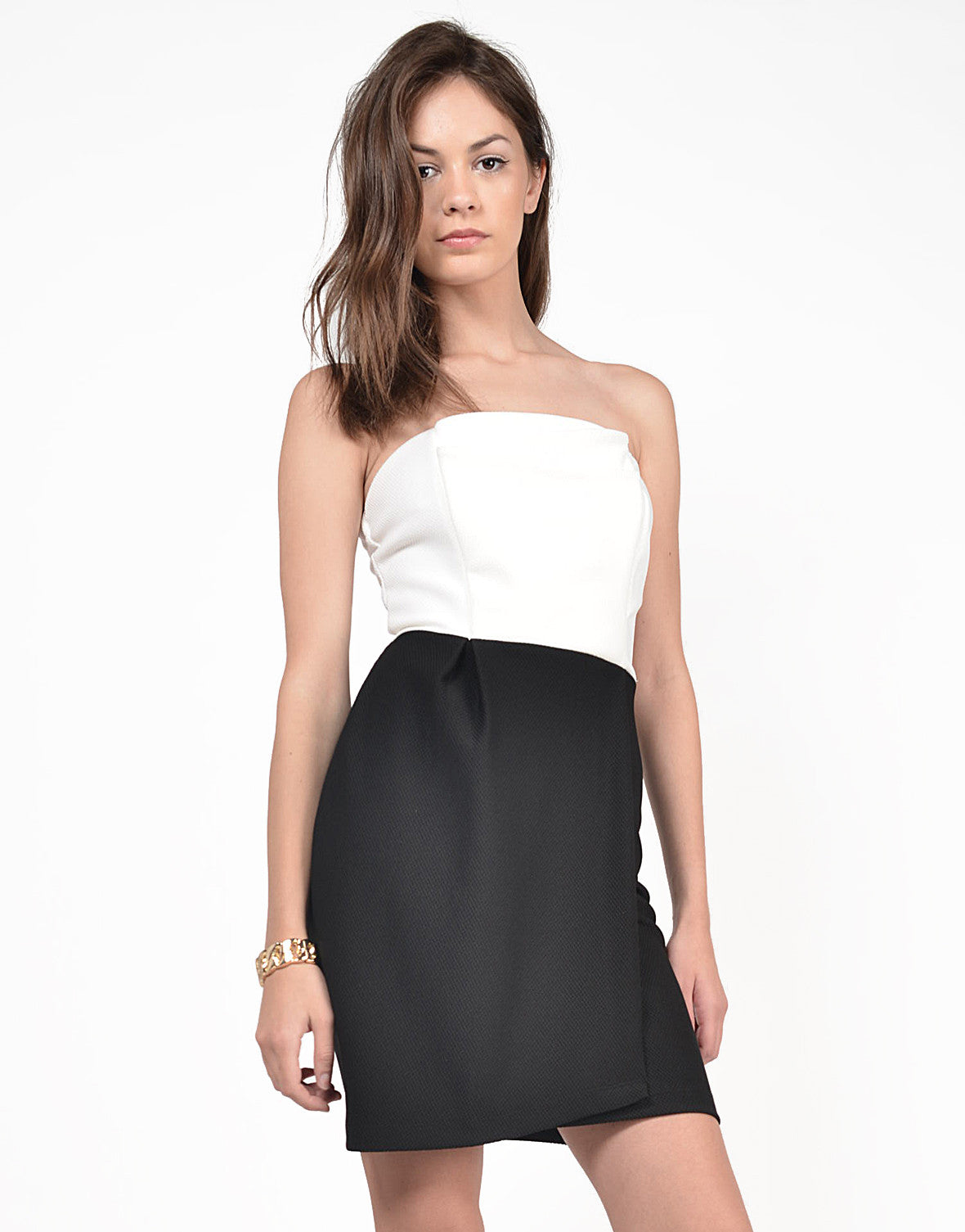 Front View of Tulip Strapless Dress