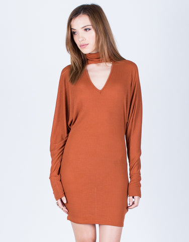 Turtleneck Choker Dress