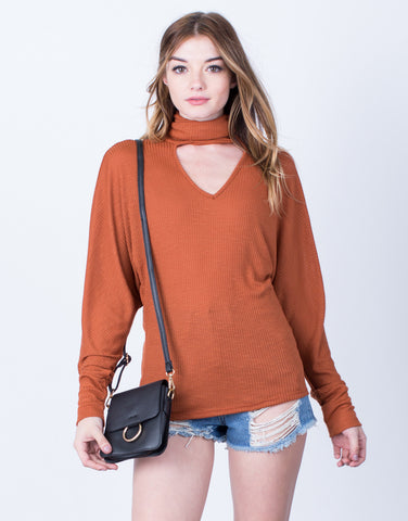 Turtleneck Choker Top