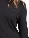 Detail of Turtleneck Side Slits Top