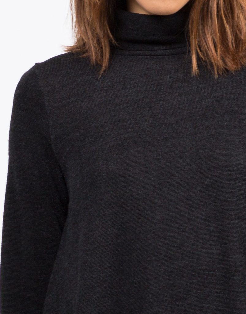 Detail of Turtleneck Knit Swing Dress
