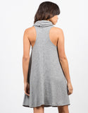 Back View of Turtleneck Swing Dress