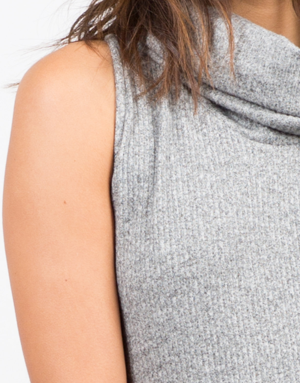 Detail of Turtleneck Swing Dress