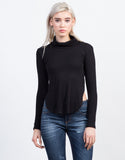 Front View of Turtleneck Thermal Top