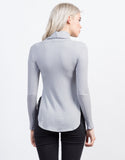 Back View of Turtleneck Thermal Top
