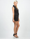 Side View of Tuxedo Romper