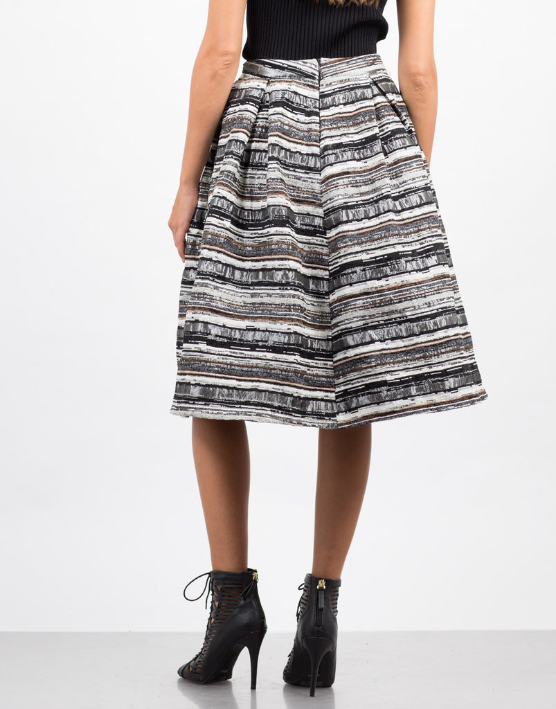 Back View of Tweed A-Line Skirt