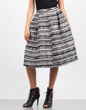 Front View of Tweed A-Line Skirt