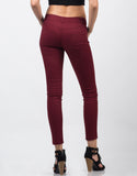 Back View of Twill High Waisted Pants