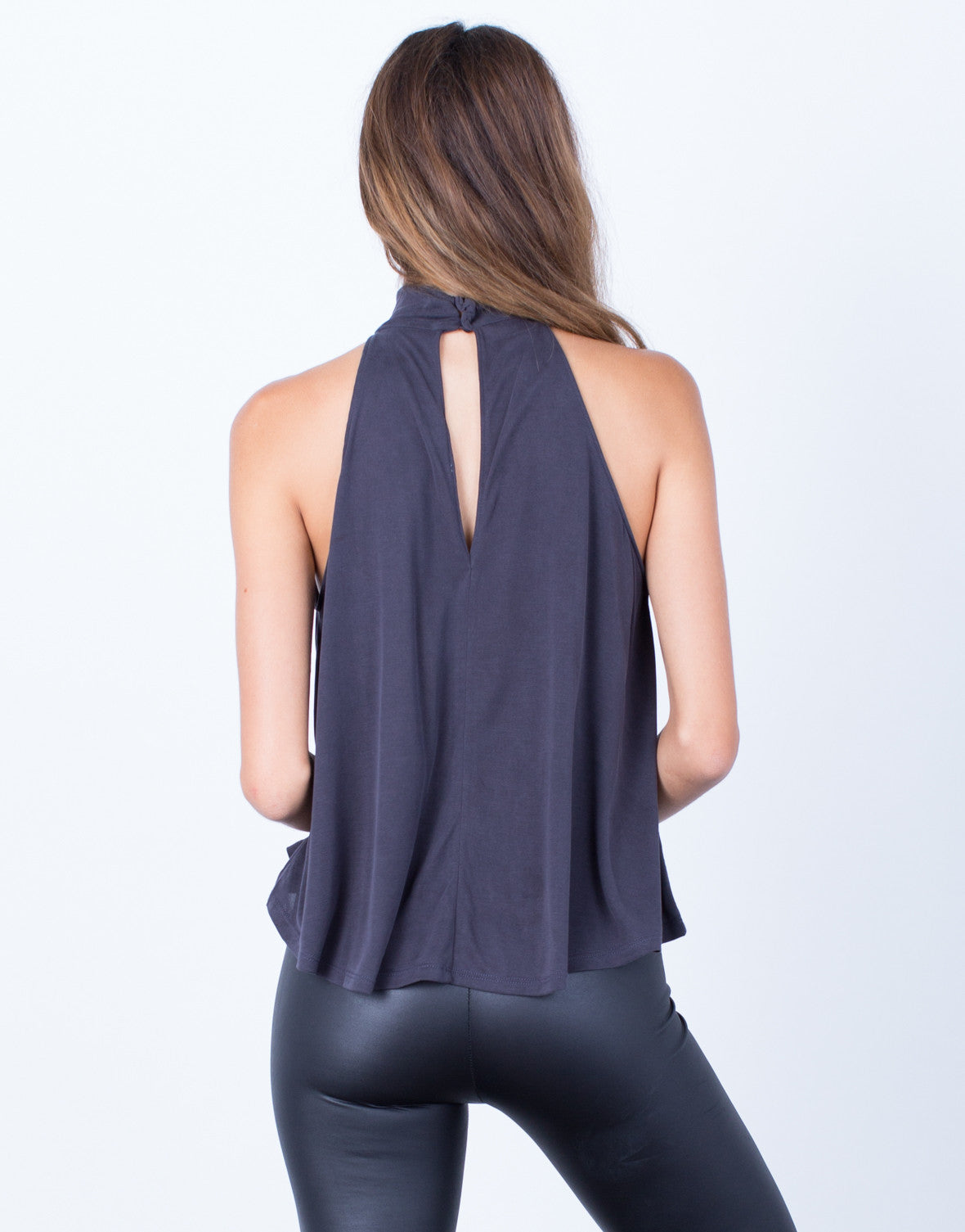 Back View of Twirl Me Racerback Tank