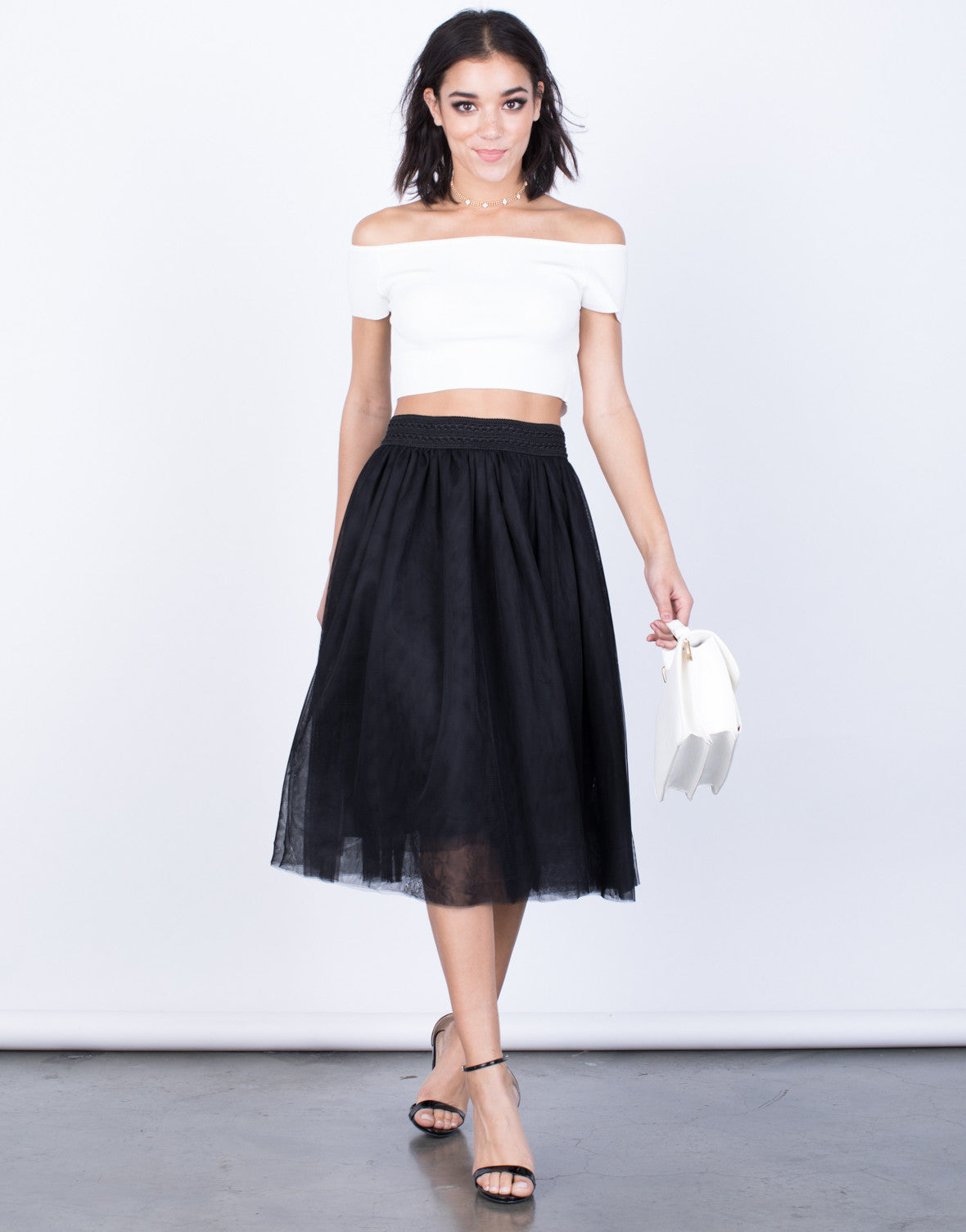 Front View of Twirl Me Tulle Skirt