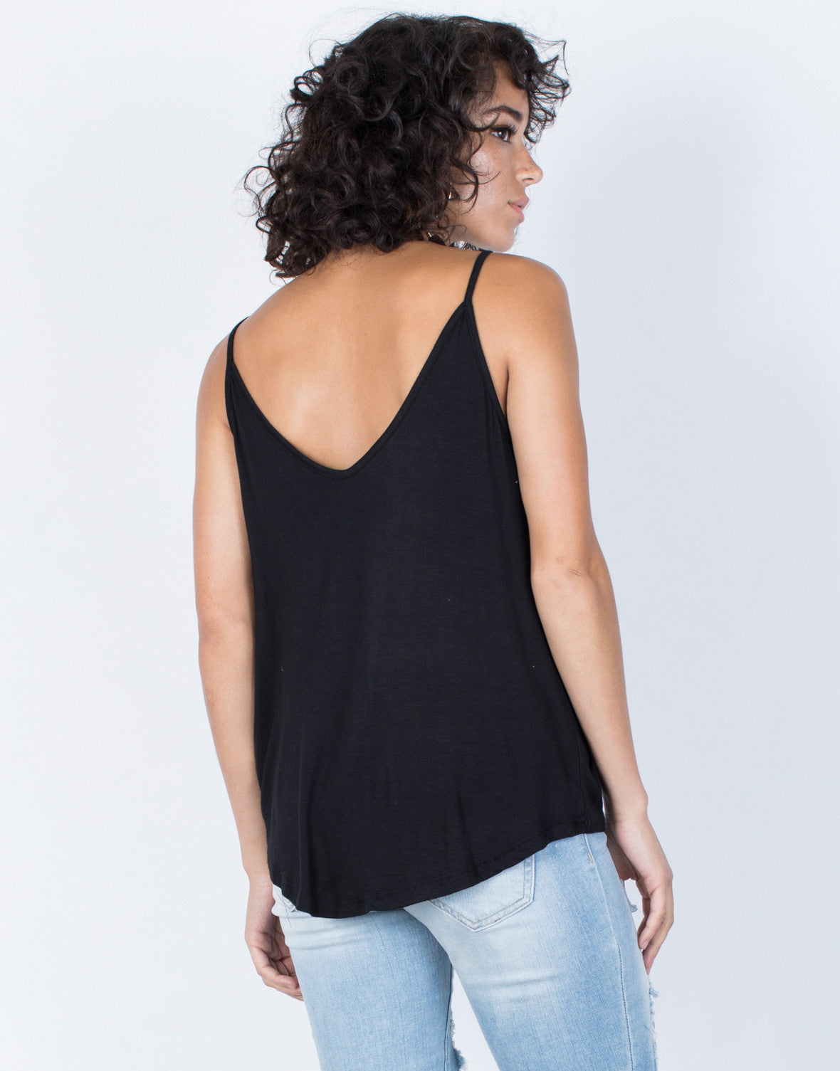 Black Twist and Turn Cami - Back View
