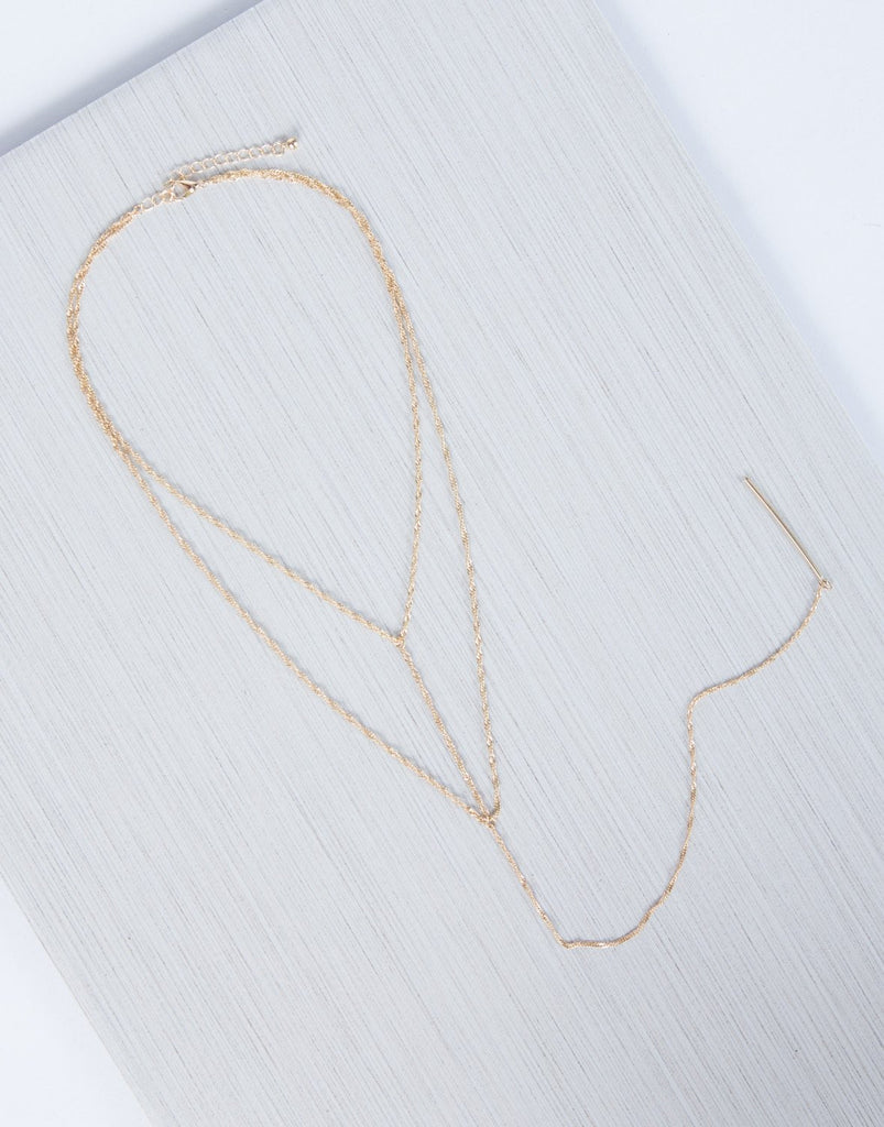 Gold Twist Around Me Necklace - Detail