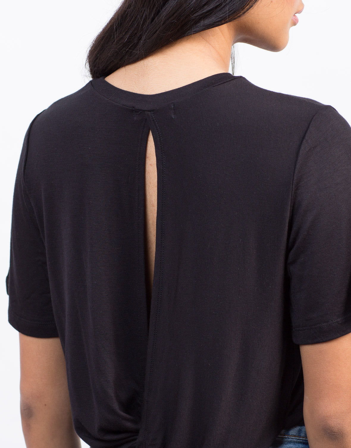 Detail of Twist Back Cropped Tee