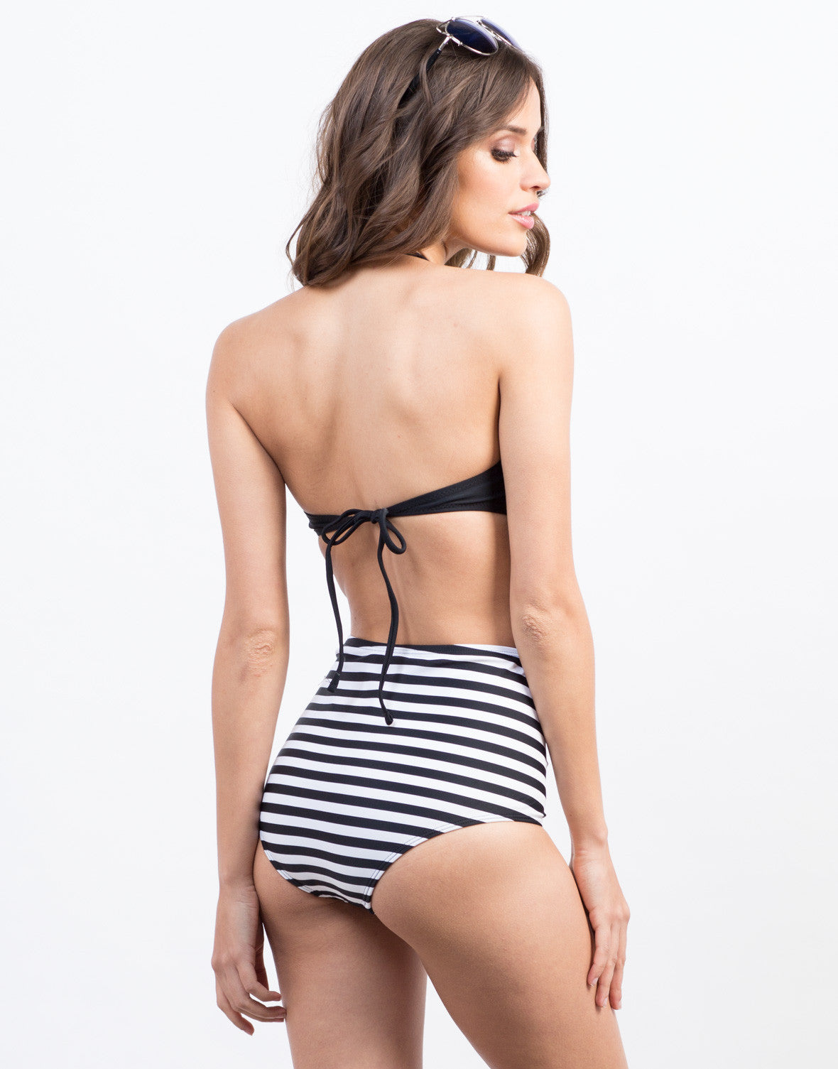 Back View of Twist Front Bandeau Bikini Top