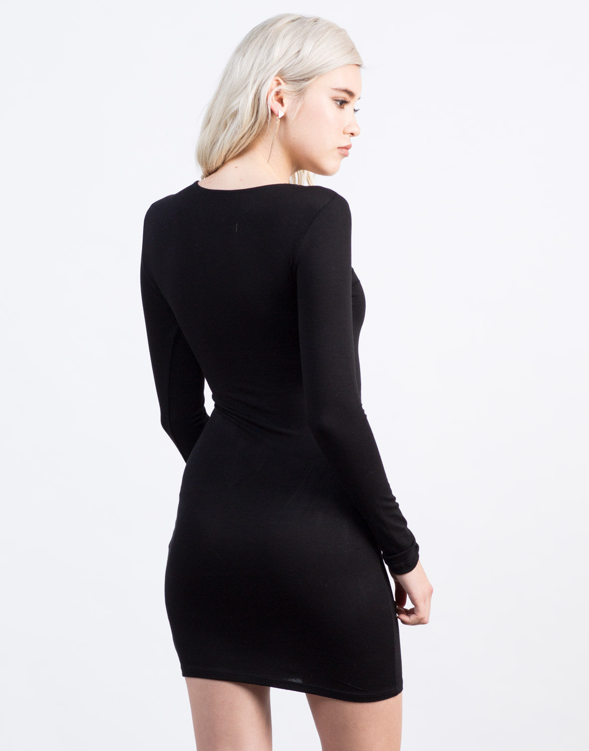 Back View of Twist Front Party Dress