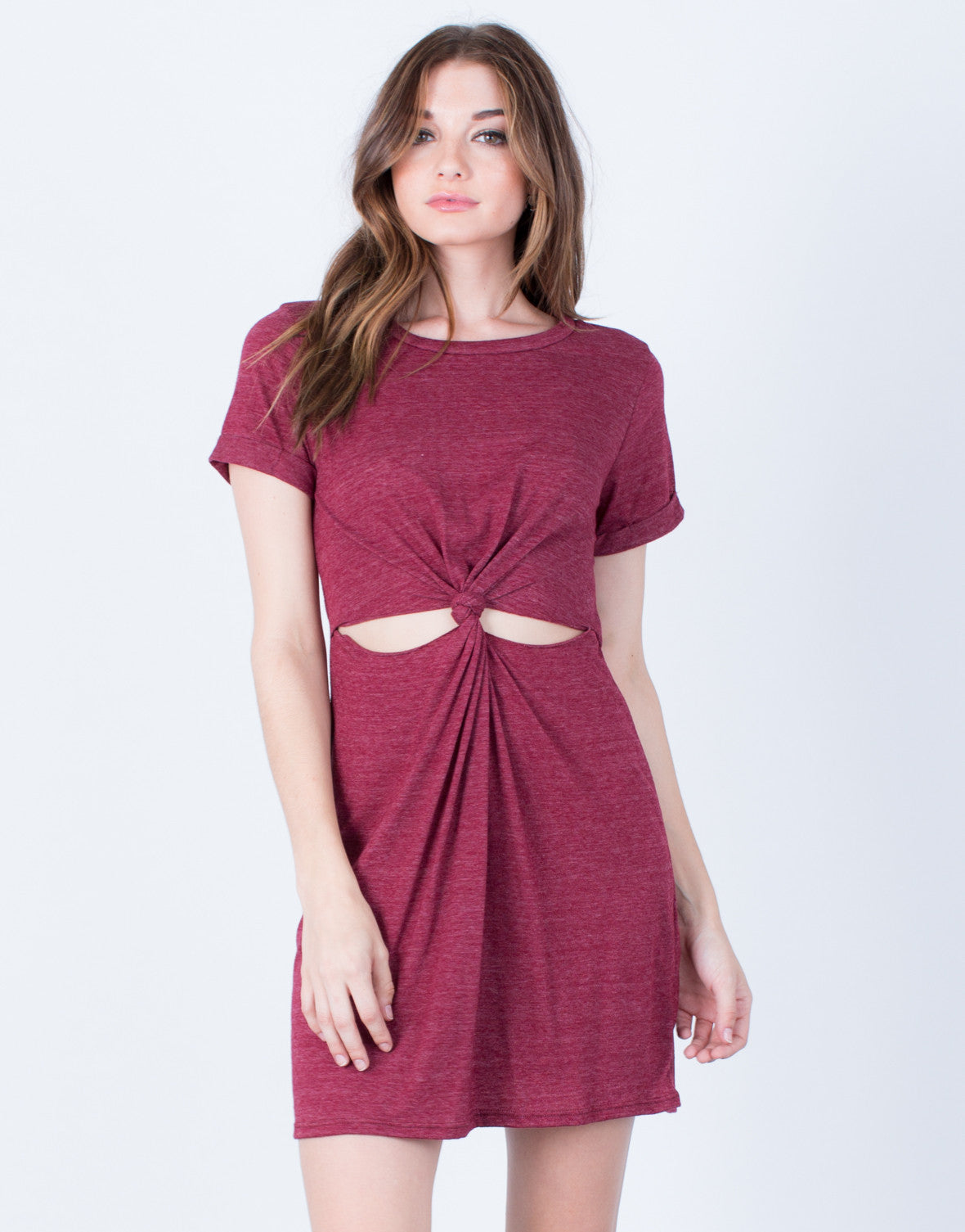 88cdd264b8af Twist Front T-Shirt Dress - Day Dress - Casual Dress - Cut Out – 2020AVE