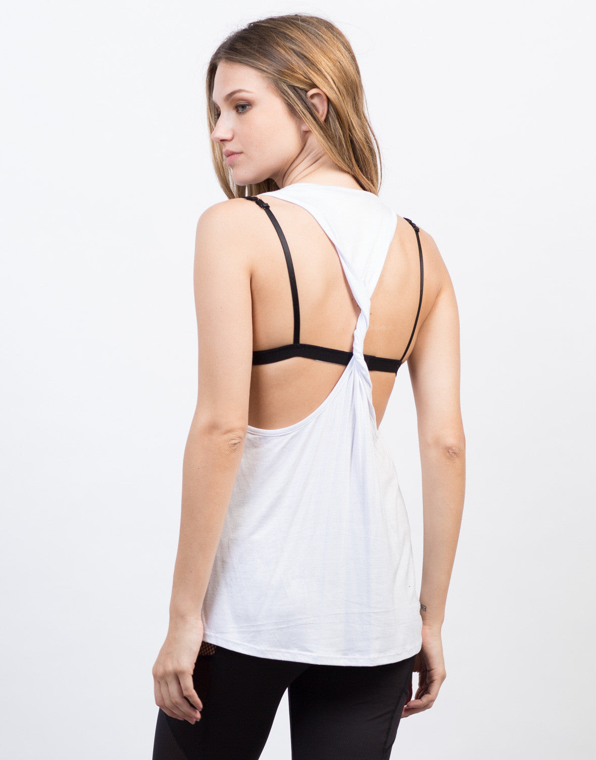 Back View of Twist Racerback Tank