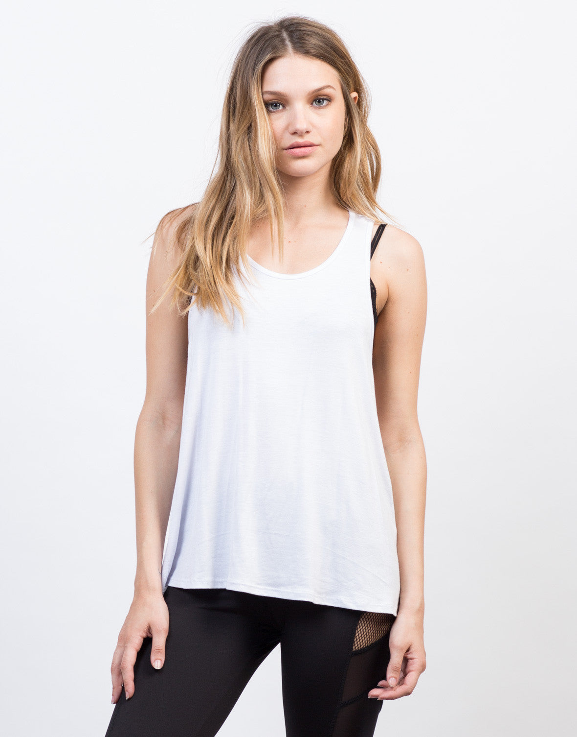 Front View of Twist Racerback Tank