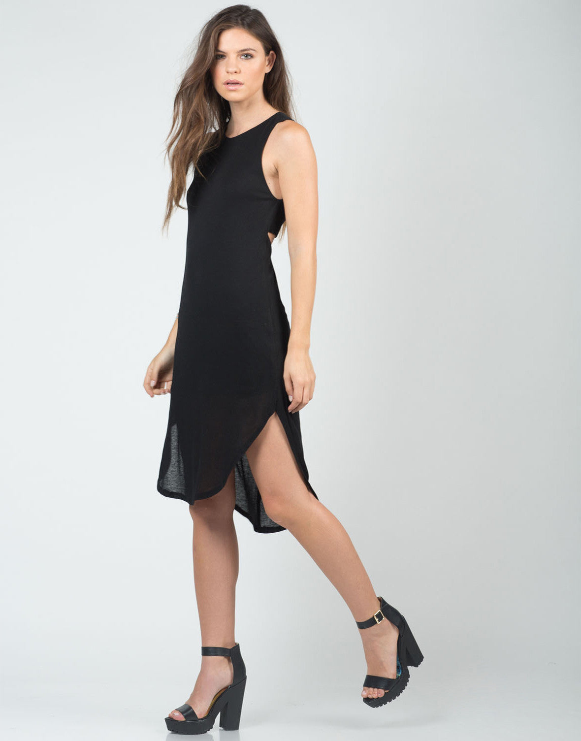 Twist Back Hi-Low Dress