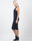 Side View of Twist Back Midi Dress